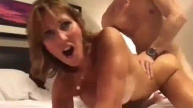 Taboo! Stepson with very big cock cums inside his slutty mature stepmom