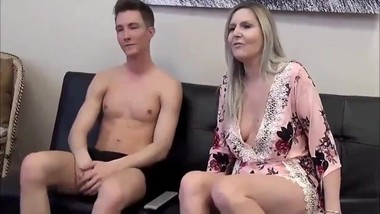Taboo! Stepson with monster cock cums inside his sexy busty stepmom