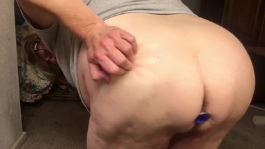 Ugh!  My Belly. Plus Butt Plug Ejection
