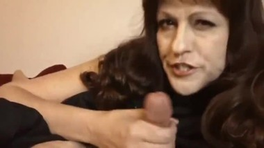 Shameless mature MILF gives her stepson hot deepthroat blowjob