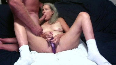 Hot Milf Spreads Her Legs Wide And Toys Sucks Hubby's Cock Mature Granny