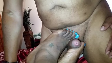 Mature Ebony Footjob