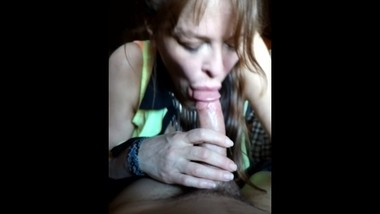 KAT Titty Play then blowjob cum in mouth