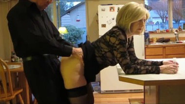 Mature mother loves anal sex with her stepson in kitchen