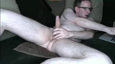 mature man cum on hand then lick it clean