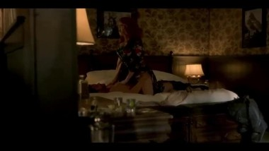 Christina Hendricks riding dick on bed in Tinstar series