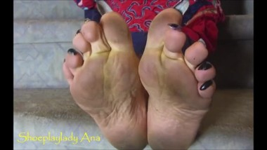 long toenails with dirty soles aunt