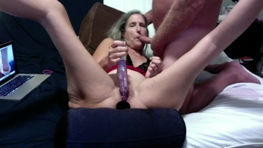Hot Milf Gives Hubby A Blowjob He Cums On Her Belly Mature Granny 60 Yr Old