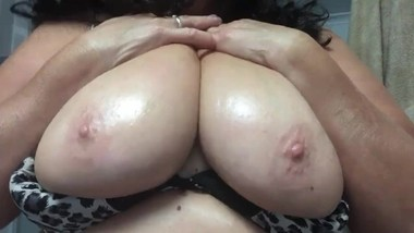 Oiling Up My Tits
