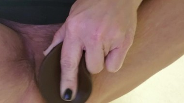 My Favorite Toy! Black Dildo Video In Slow Motion