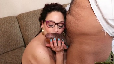 Hotel Security Finds Himself on Amanda's Casting Couch!